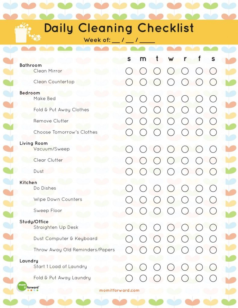 The Best Free Printable Cleaning Checklists | Organization Ideas For - Free Printable House Cleaning Checklist