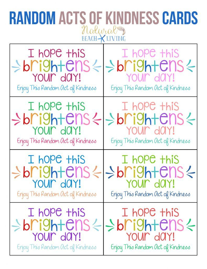 The Best Random Acts Of Kindness Printable Cards Free   Parenting - Free Printable Kindness Cards