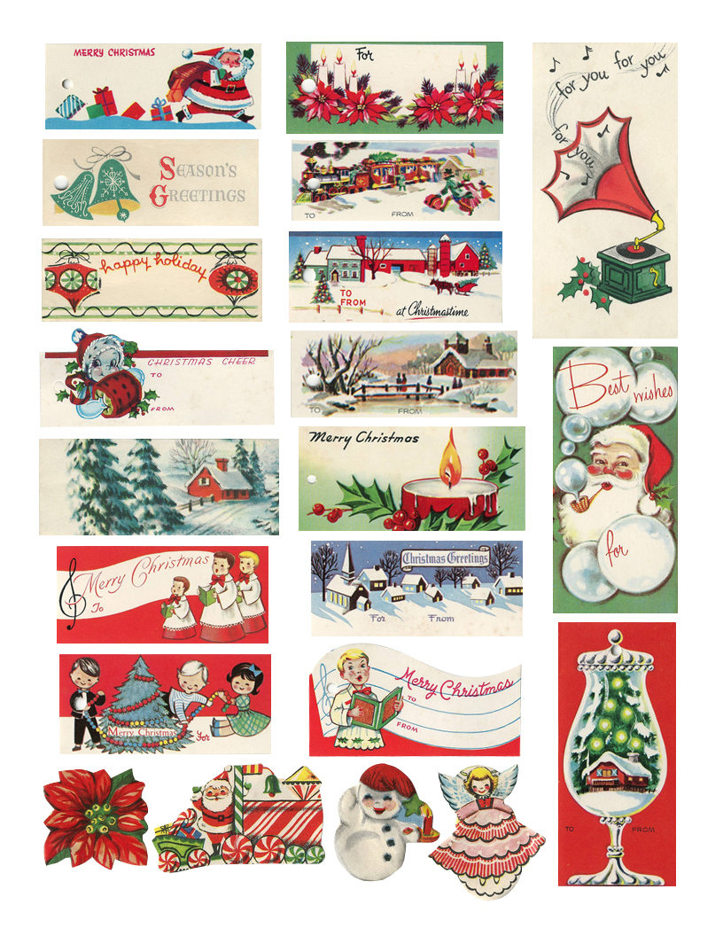 The Cheeky Seagull: Free Printable Vintage Christmas Tags!! - Free Printable Vintage Christmas Pictures