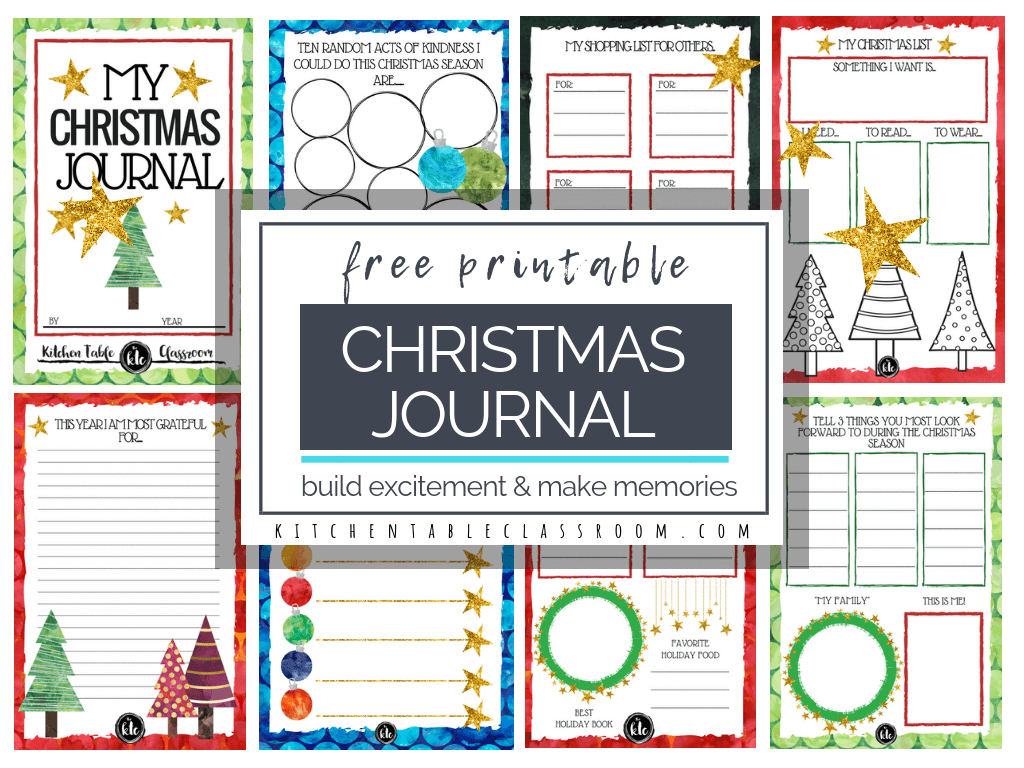 The Christmas Book- Free Christmas Printables - The Kitchen Table - Free Printable Preschool Memory Book