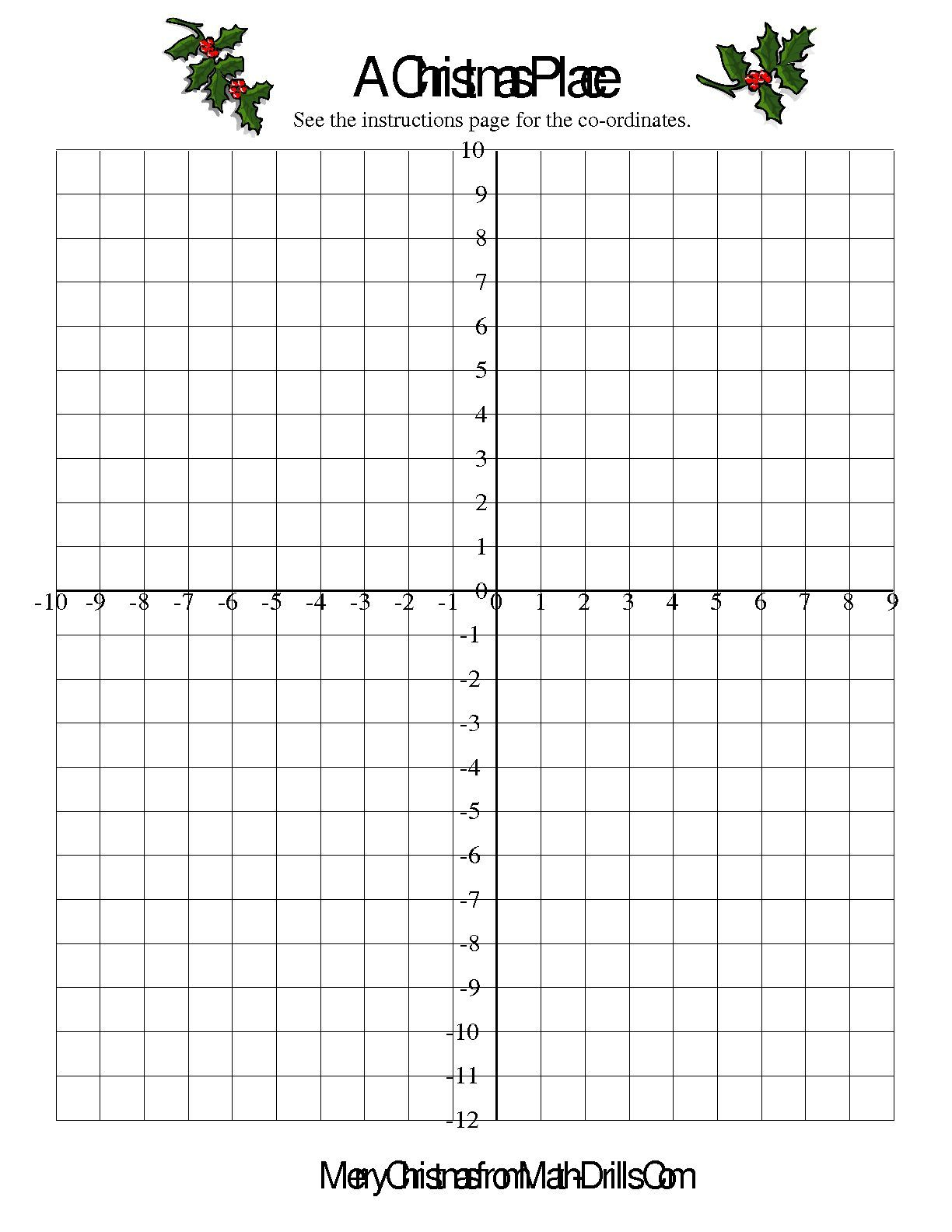The Co Ordinate Geometry Activity Math Worksheet From Christmas - Free Printable Geometry Worksheets For Middle School