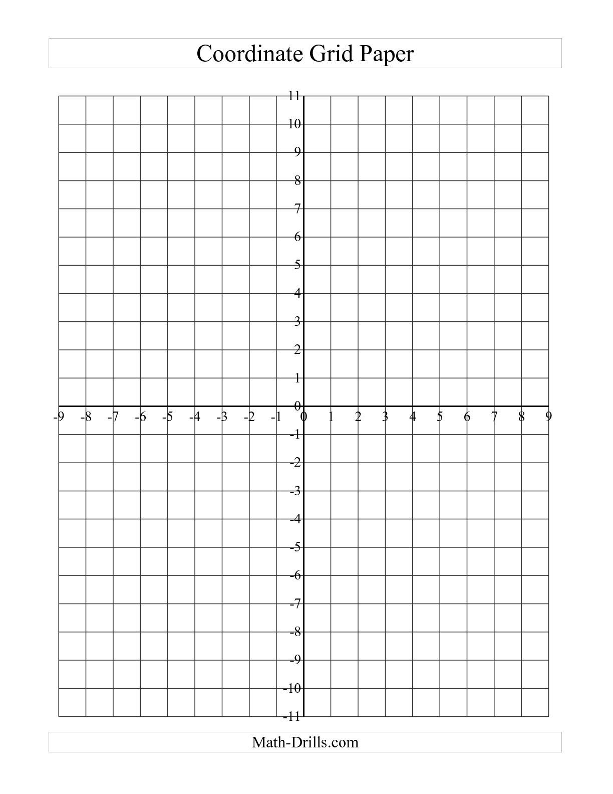 The Coordinate Grid Paper (Large Grid) (A) Math Worksheet From The - Free Printable Christmas Coordinate Graphing Worksheets