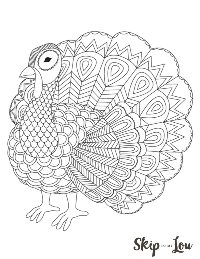 The Cutest Free Turkey Coloring Pages | Skip To My Lou - Free Printable Turkey Coloring Pages