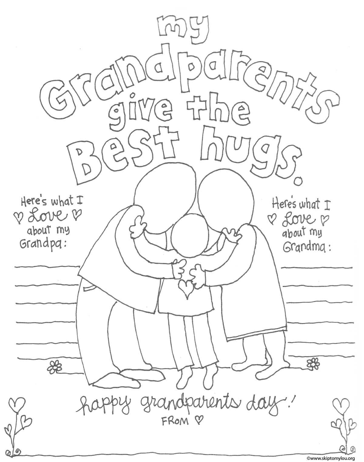 The Cutest Grandparents Day Coloring Pages | Crafts | Pinterest - Free Printable Fathers Day Coloring Pages For Grandpa