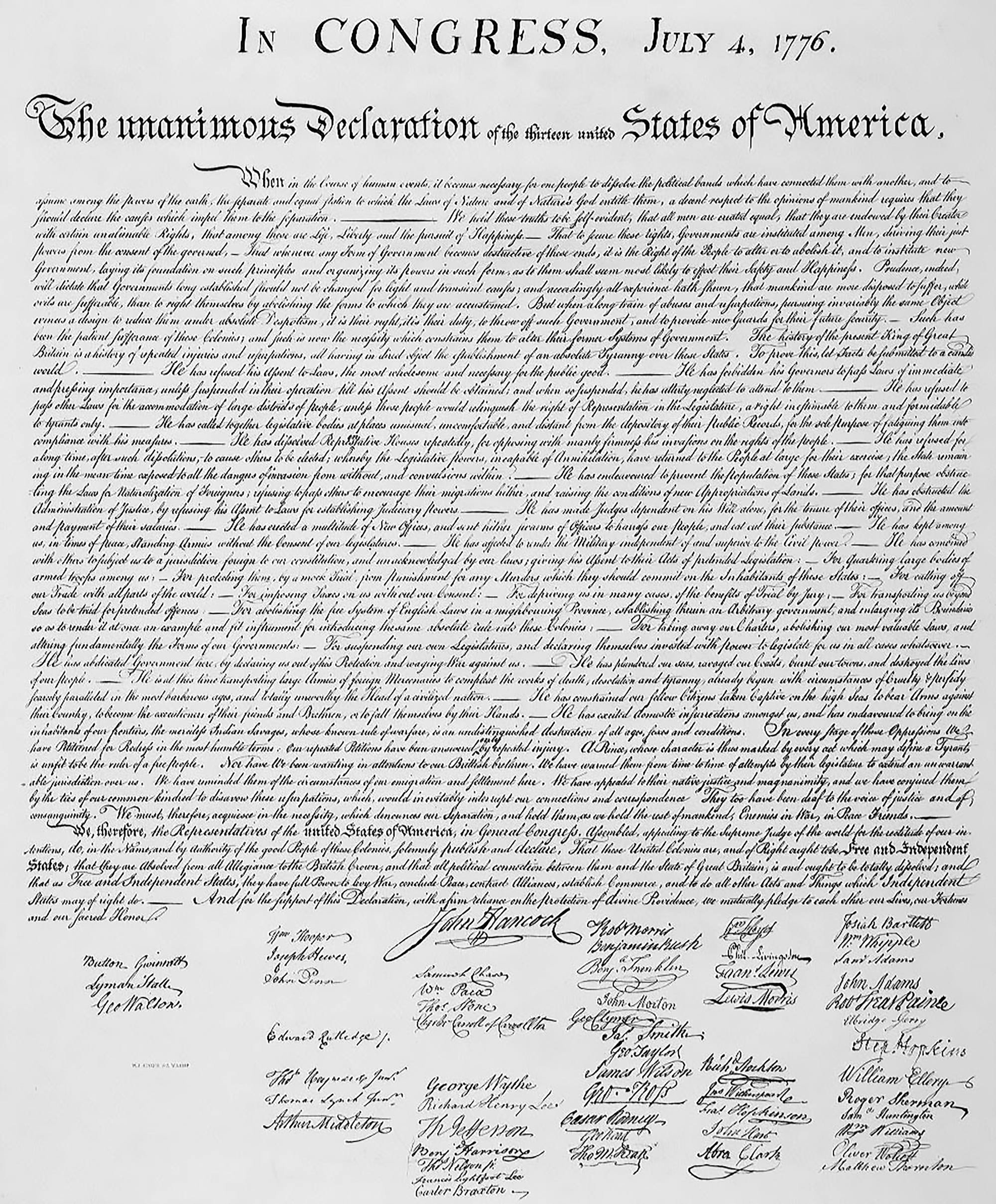 The Declaration Of Independence | American Experience | Official - Free Printable Copy Of The Declaration Of Independence