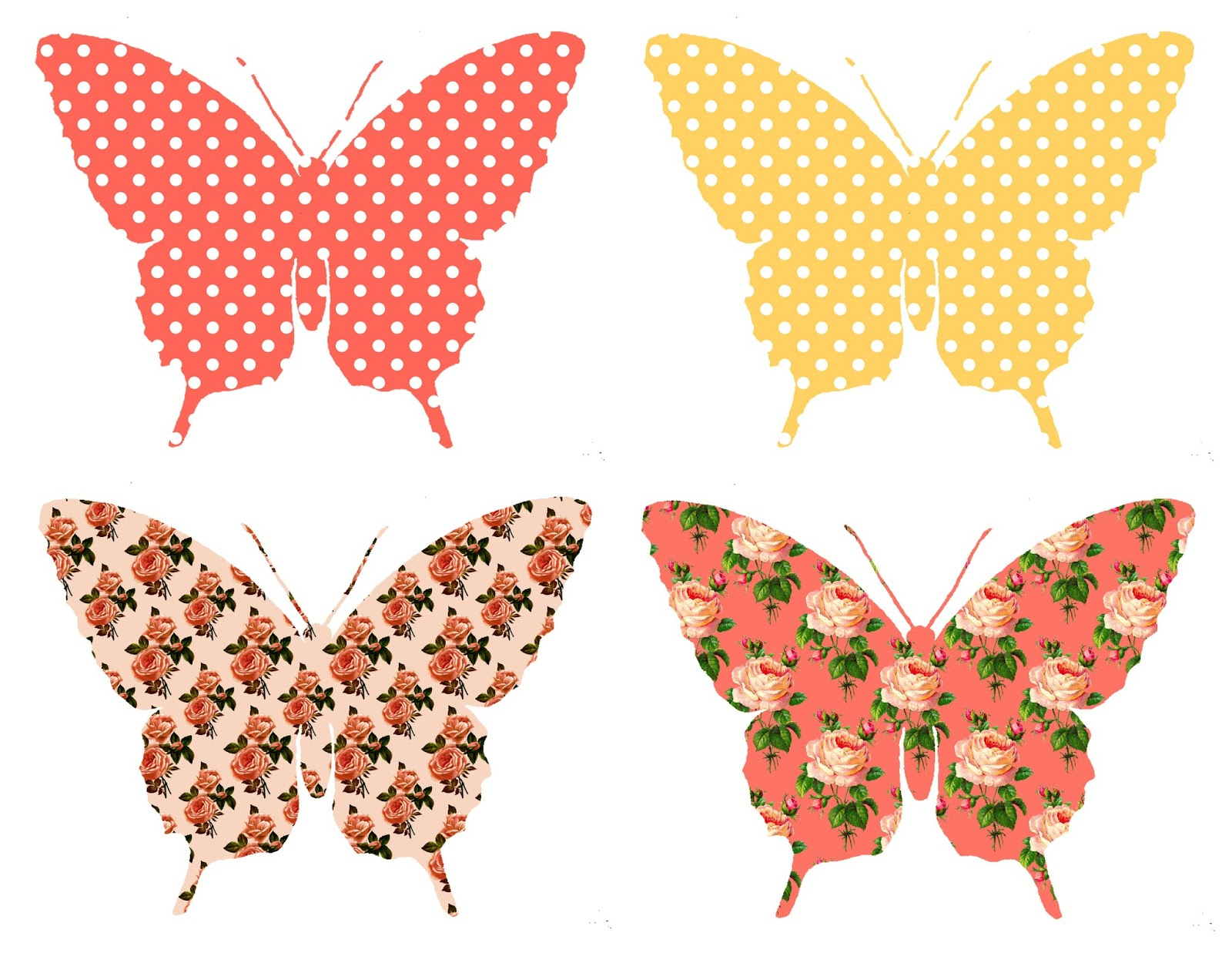 The Graphics Monarch: Digital Butterfly Collage Sheet Download - Free Printable Butterfly Cutouts