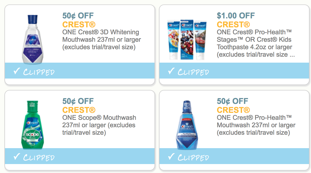 The Harris Teeter Deals - Page 575 Of 1842 - Bringing You New Deals - Free Printable Crest Coupons