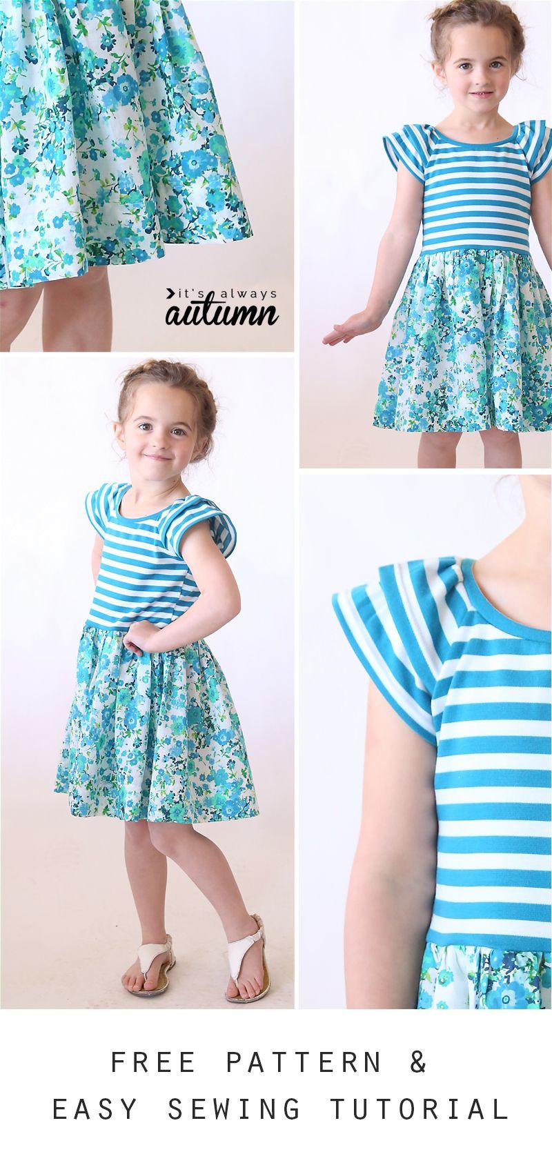 "The ""hello Spring"" Girls' Dress   Children's Patterns & Inspiration - Free Printable Toddler Dress Patterns"