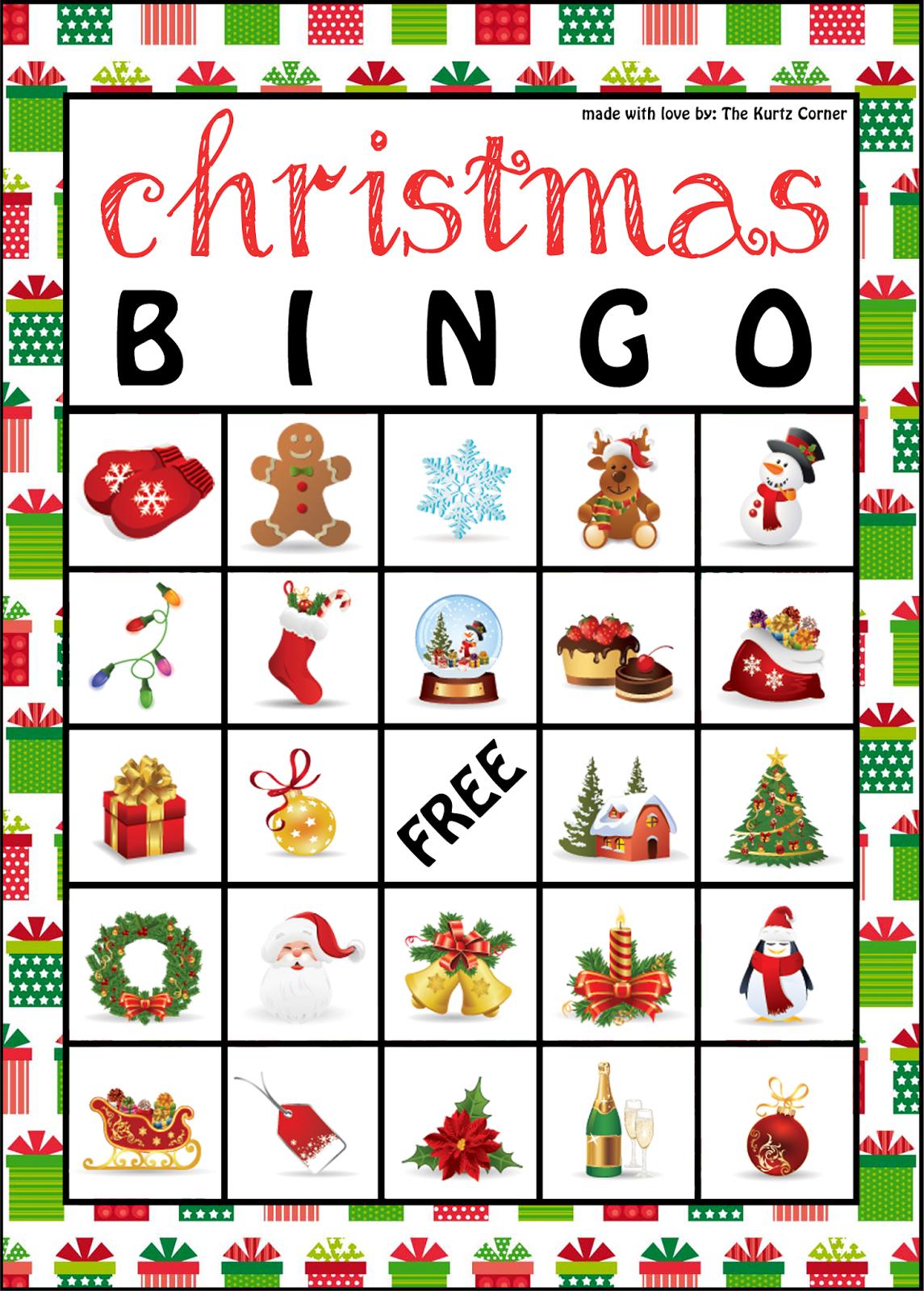 The Kurtz Corner: Free Printable Christmas Bingo Cards | Winter / X - Free Christmas Bingo Game Printable
