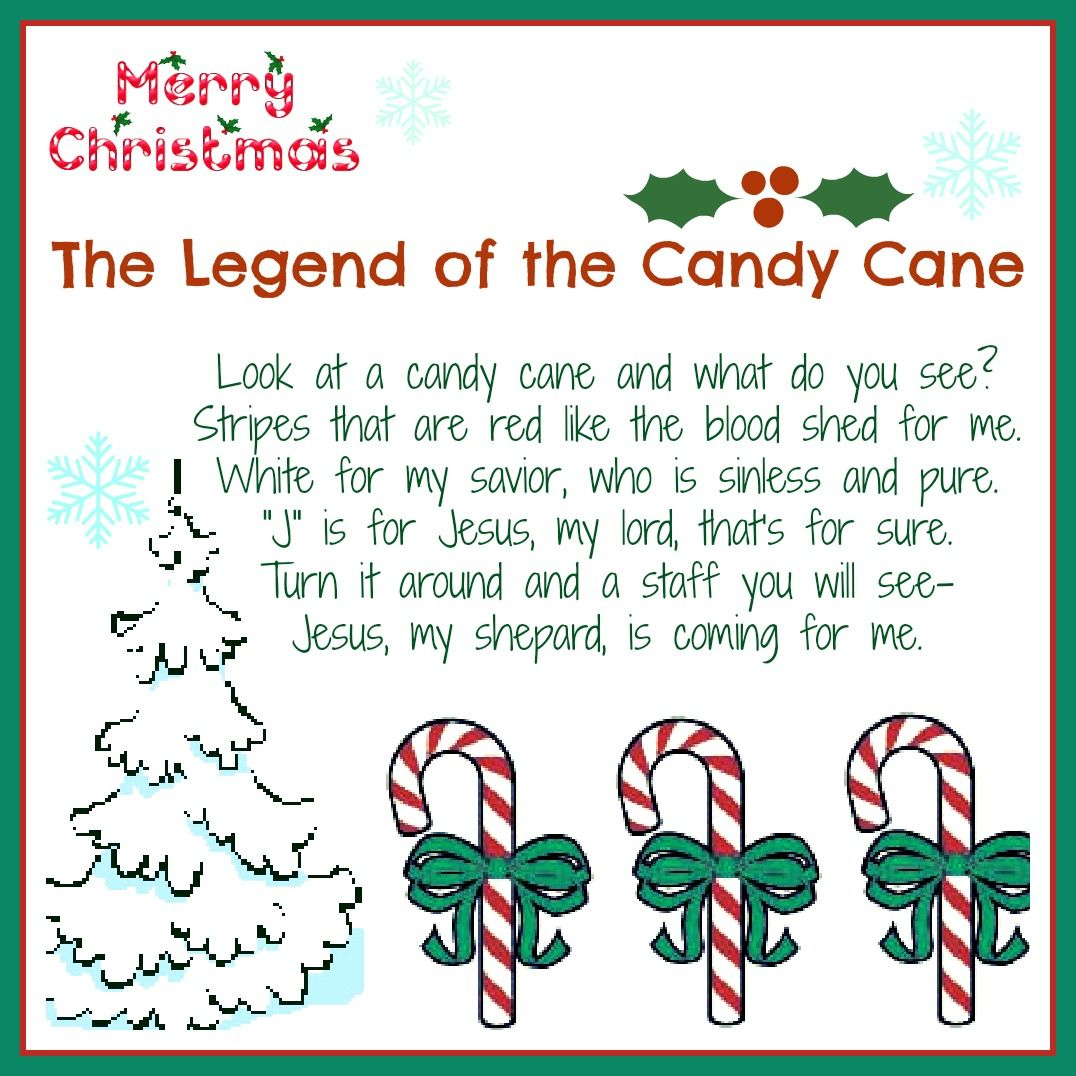 The Legend Of The Candy Cane: Free Printable And A Giveaway! - Daily - Free Printable Candy Cane Poem