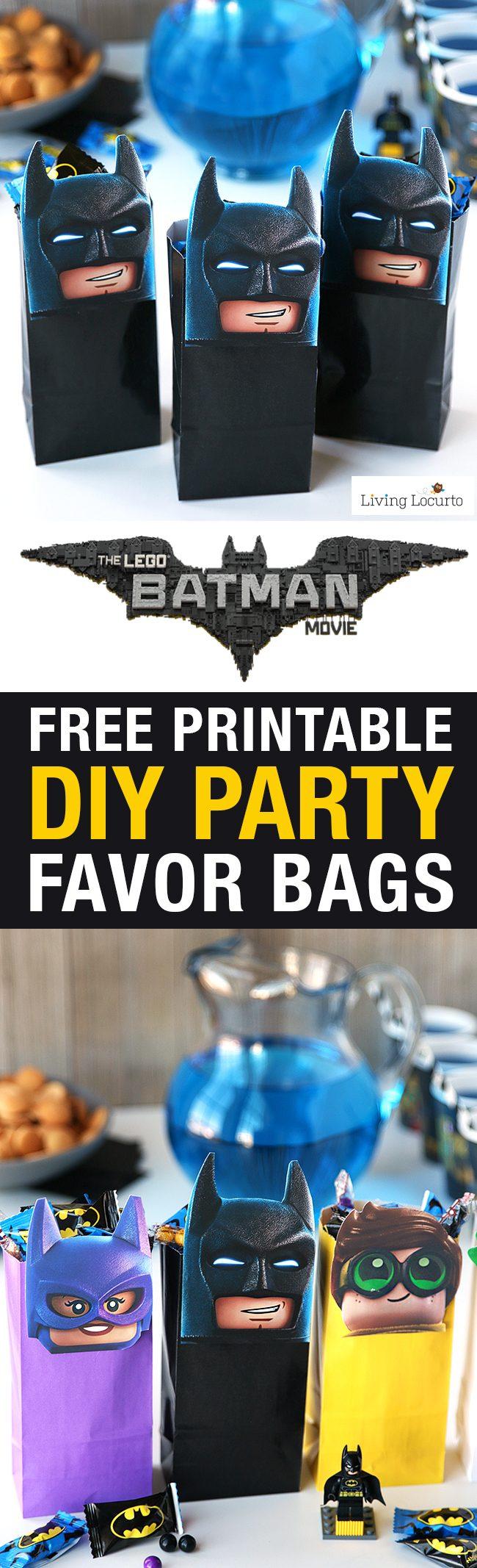 The Lego Batman Movie Diy Party Treat Bags | Free Printable Favor Bags - Free Printable Lego Batman