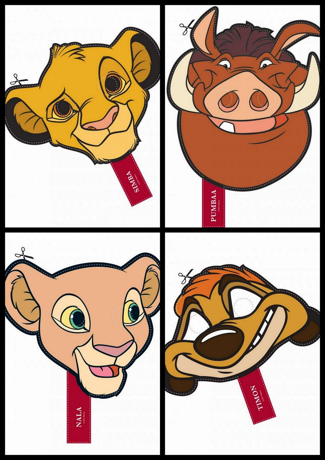 The Lion King Free Printable Masks. …   Lion King Babyshower   Lion … - Free Printable Picture Of A Lion