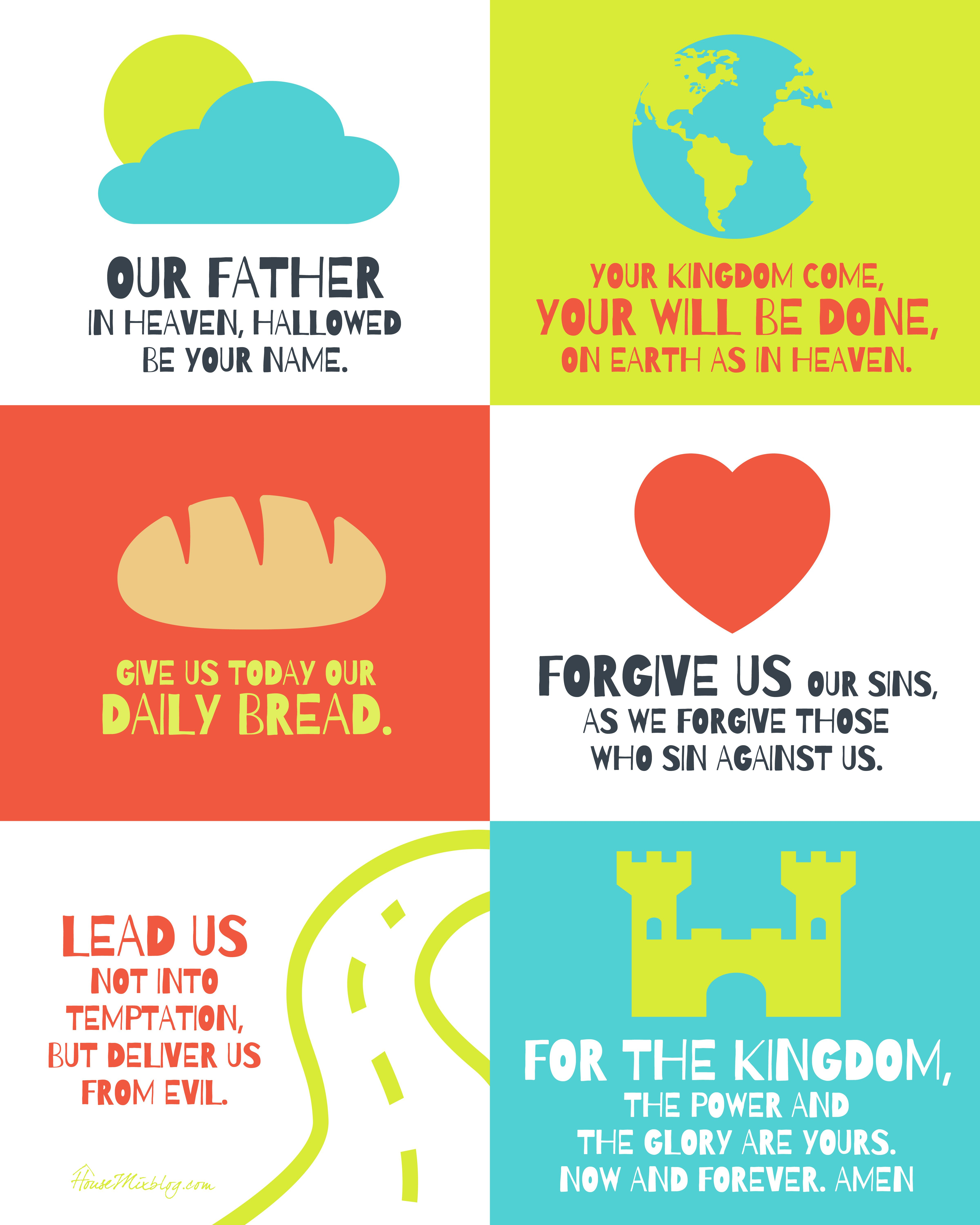 The Lord's Prayer Poster For Kids | Sunday School | Pinterest - Free Printable Preschool Posters