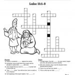 The Lord's Prayer Sunday School Crossword Puzzles: Each Stanza Of – Free Printable Sunday School Crossword Puzzles