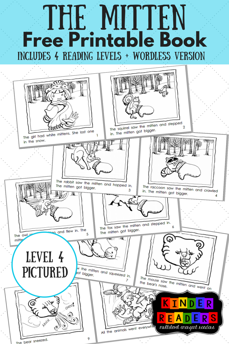 The Mitten Activities To Go With The Book! | Music Therapy - Free Printable Books For Kindergarten