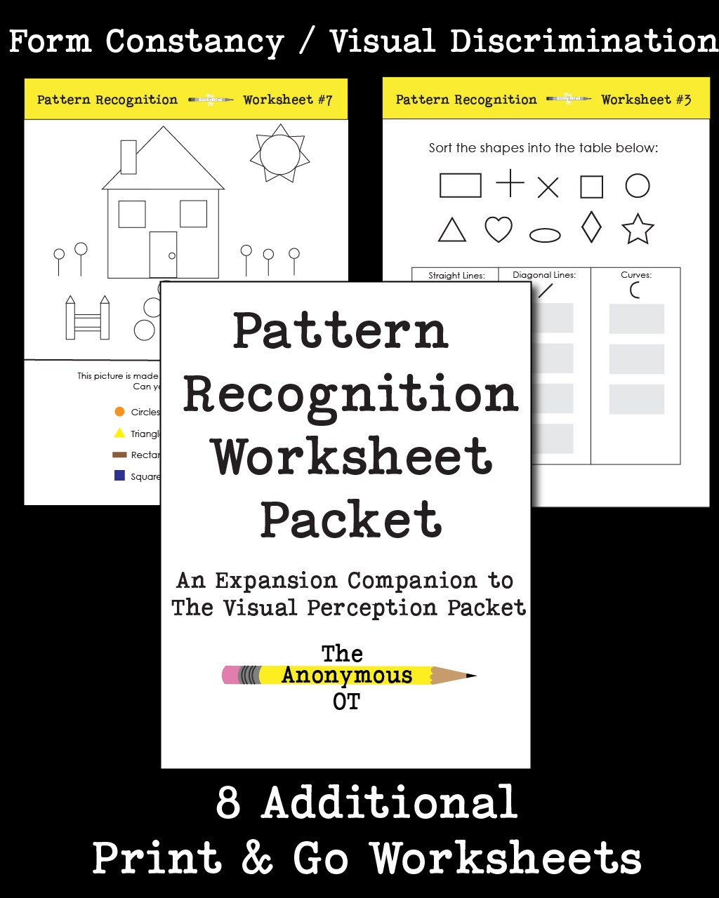The Pattern Recognition Worksheet Packet - Your Therapy Source - Free Printable Form Constancy Worksheets