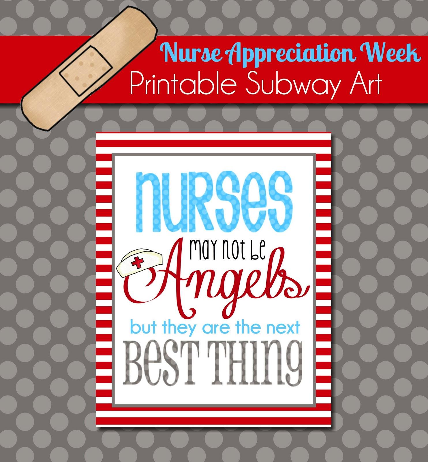 The Polka Dot Posie: Brighten A Nurse's Day With This Free Printable - Nurses Week 2016 Cards Free Printable