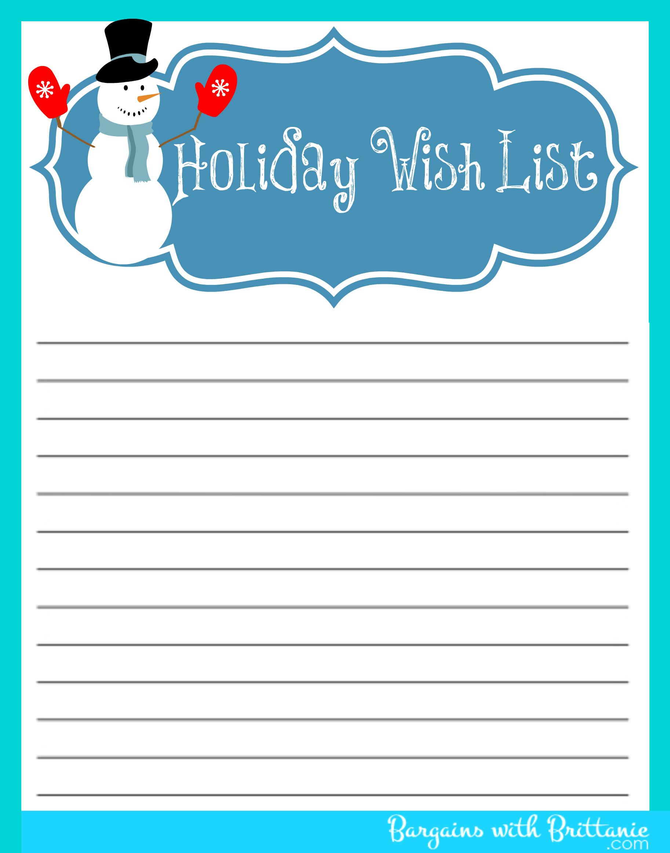 The Polka Dot Posie: Christmas Organizing Printables To Get You In - Free Printable Christmas List Maker