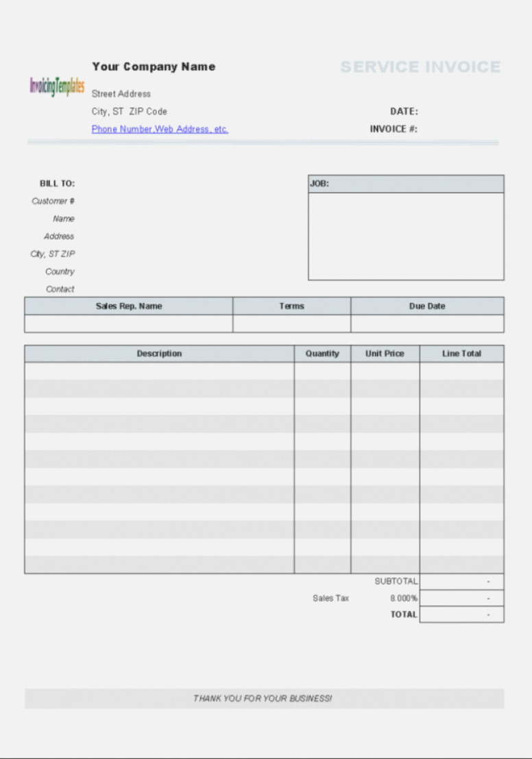 The Reasons Why We Love Aynax | The Invoice And Form Template - Aynax Com Free Printable Invoice