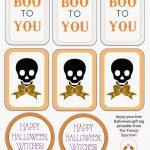 The Trendy Sparrow: Free Printable: Halloween Gift Tags   Free Printable Goodie Bag Tags