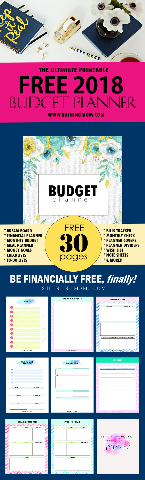 The Ultimate Free Printable 2018 Budget Planner You Need! - Free Printable Financial Planner 2017