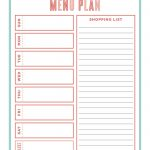 The Ultimate Guide Creating A Workable Meal Plan | Thrifty Thursday   Create A Menu Free Printable