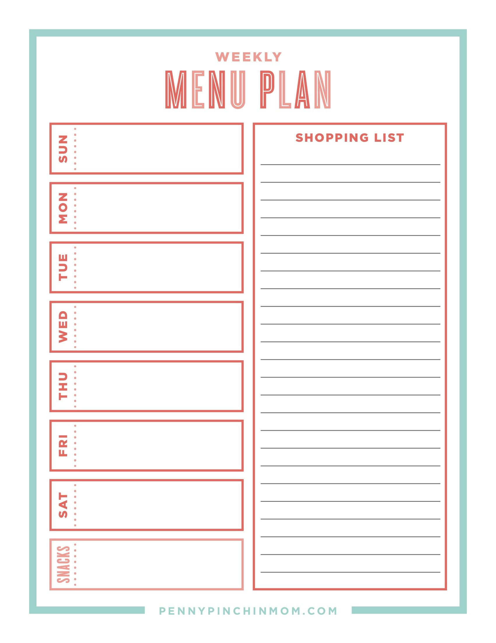 The Ultimate Guide Creating A Workable Meal Plan   Thrifty Thursday - Create A Menu Free Printable