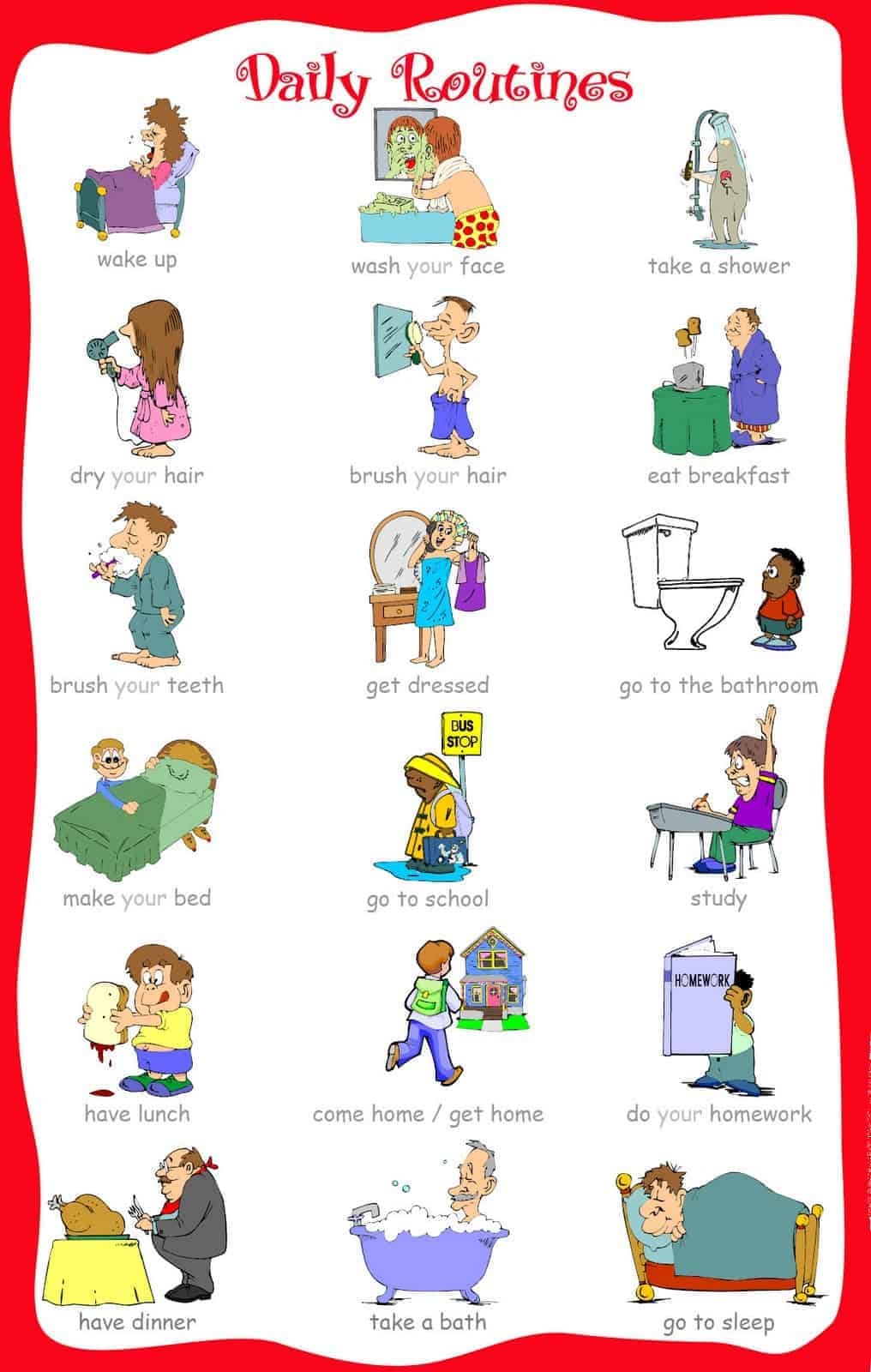 The Ultimate List Of Printable Visual Schedules. - Free Printable Morning Routine Chart