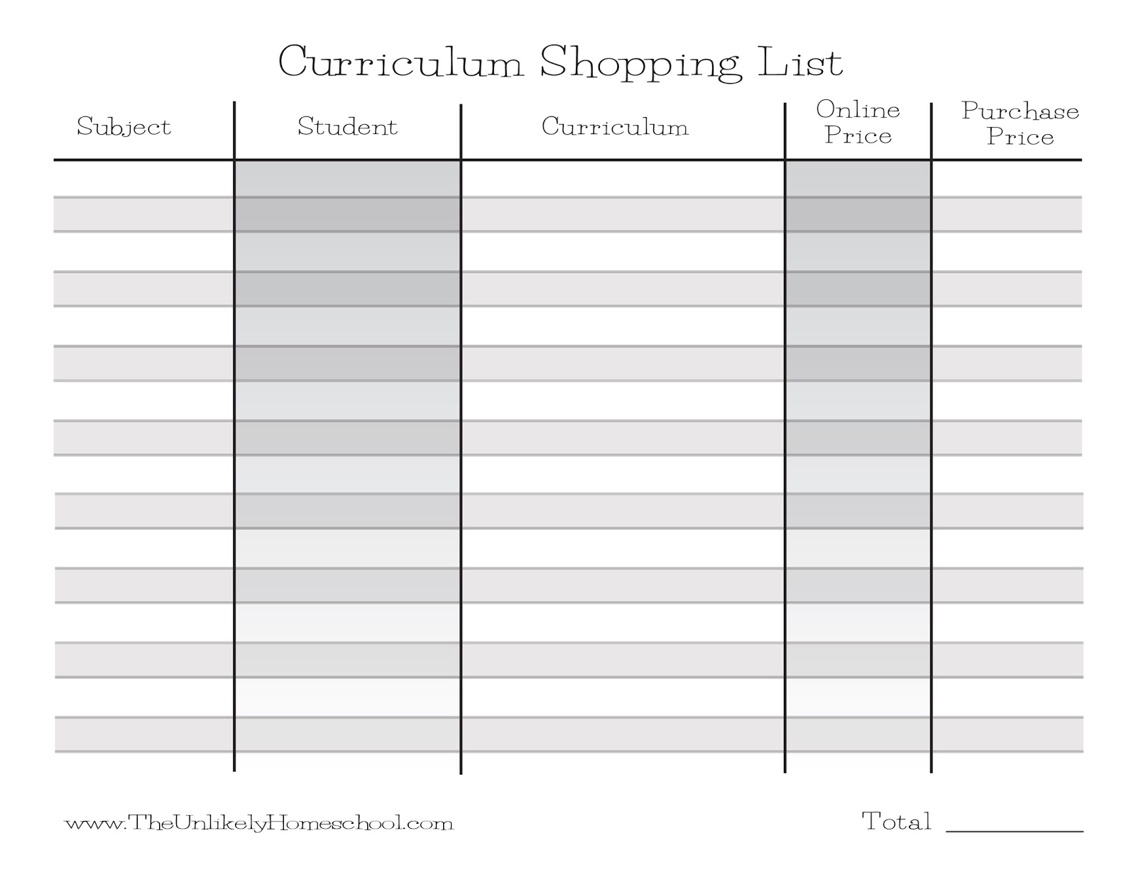 The Unlikely Homeschool: How I Plan My Homeschool Curriculum - Free Printable Homeschool Curriculum