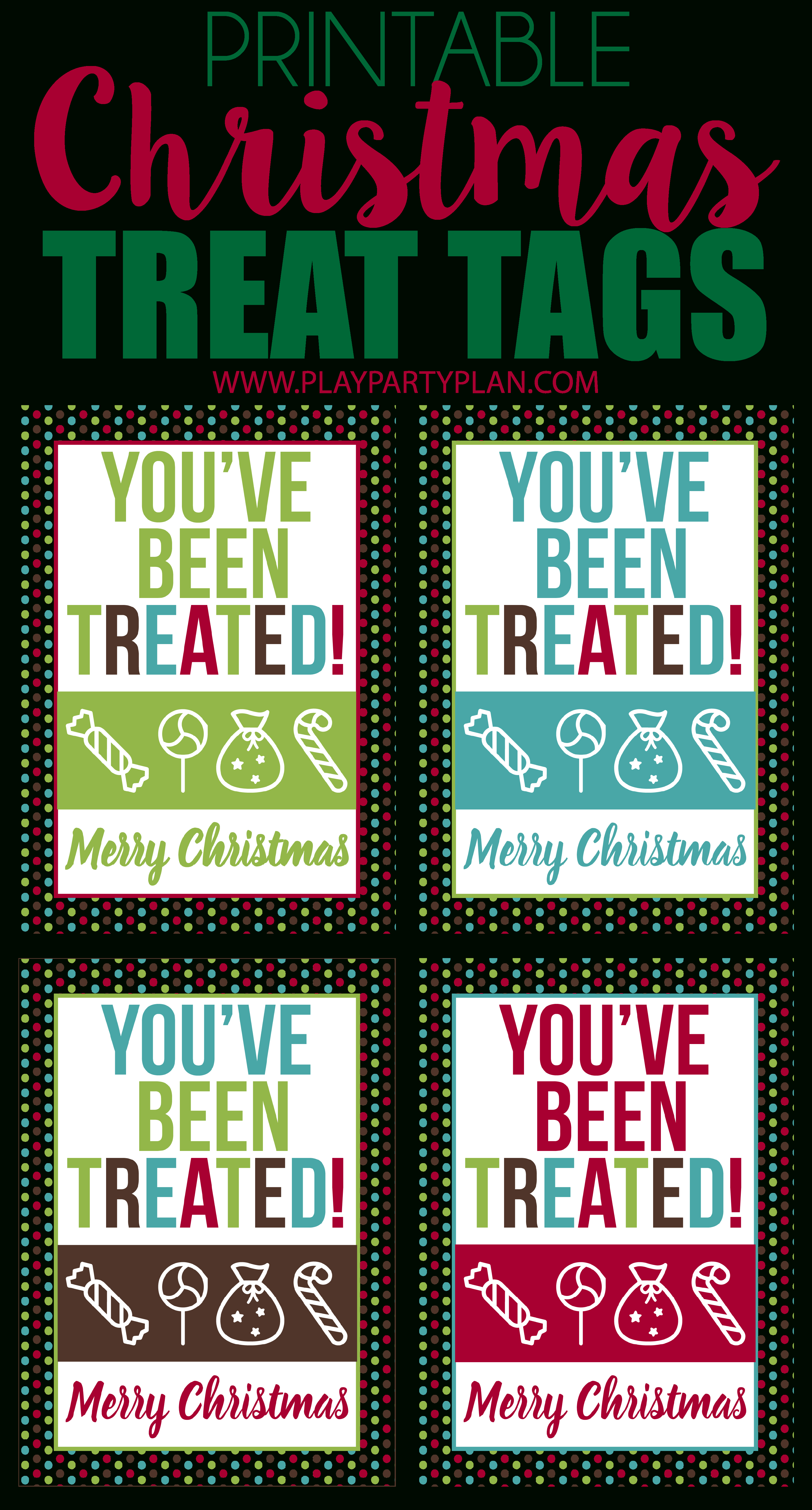 These Free Printable Christmas Treat Tags Are Perfect To Use As Bag - Free Printable Christmas Bag Toppers