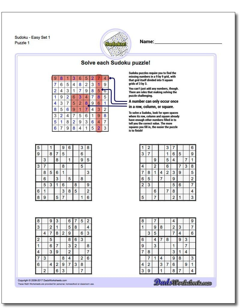 These Printable Sudoku Puzzles Range From Easy To Hard, Including - Free Printable Sudoku Pdf