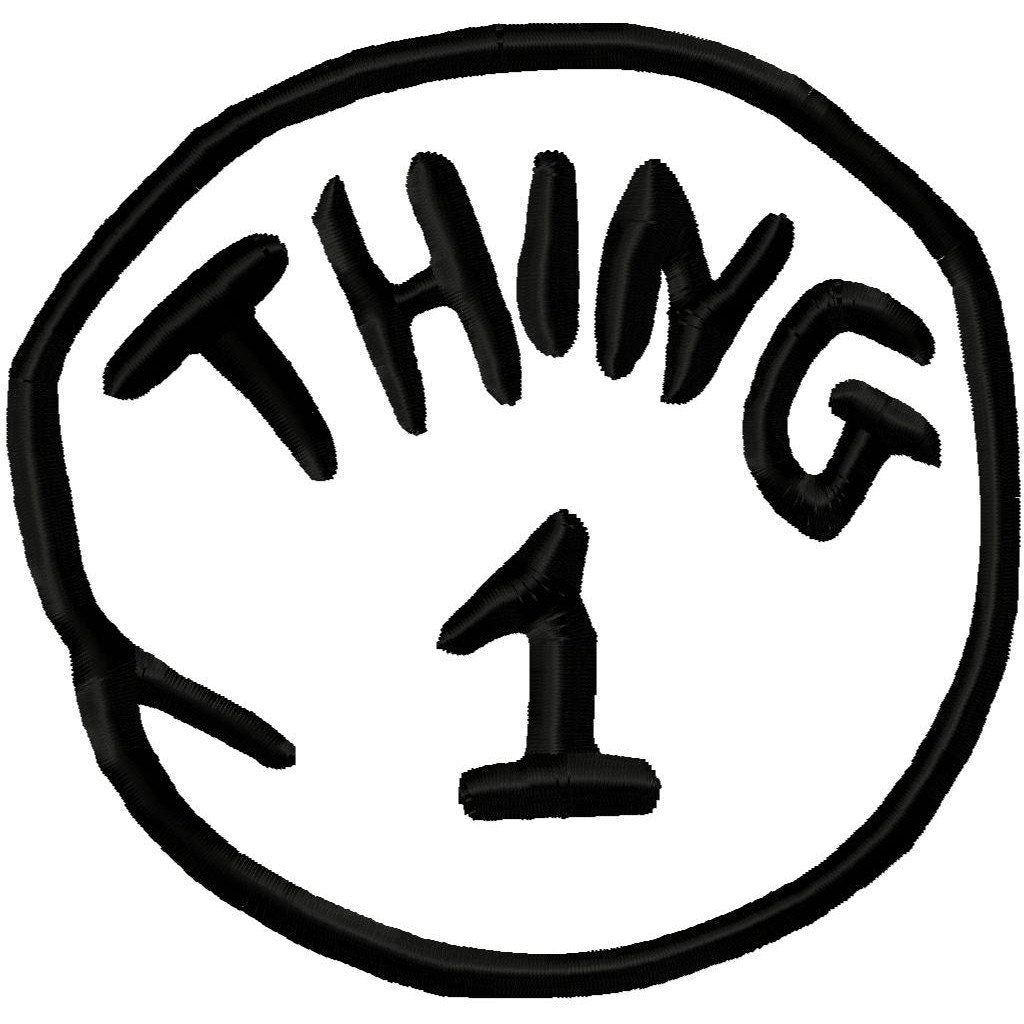 Thing 1 And Thing 2 Printables | Printable Thing 1 And Thing 2 Logo - Thing 1 And Thing 2 Free Printable Template