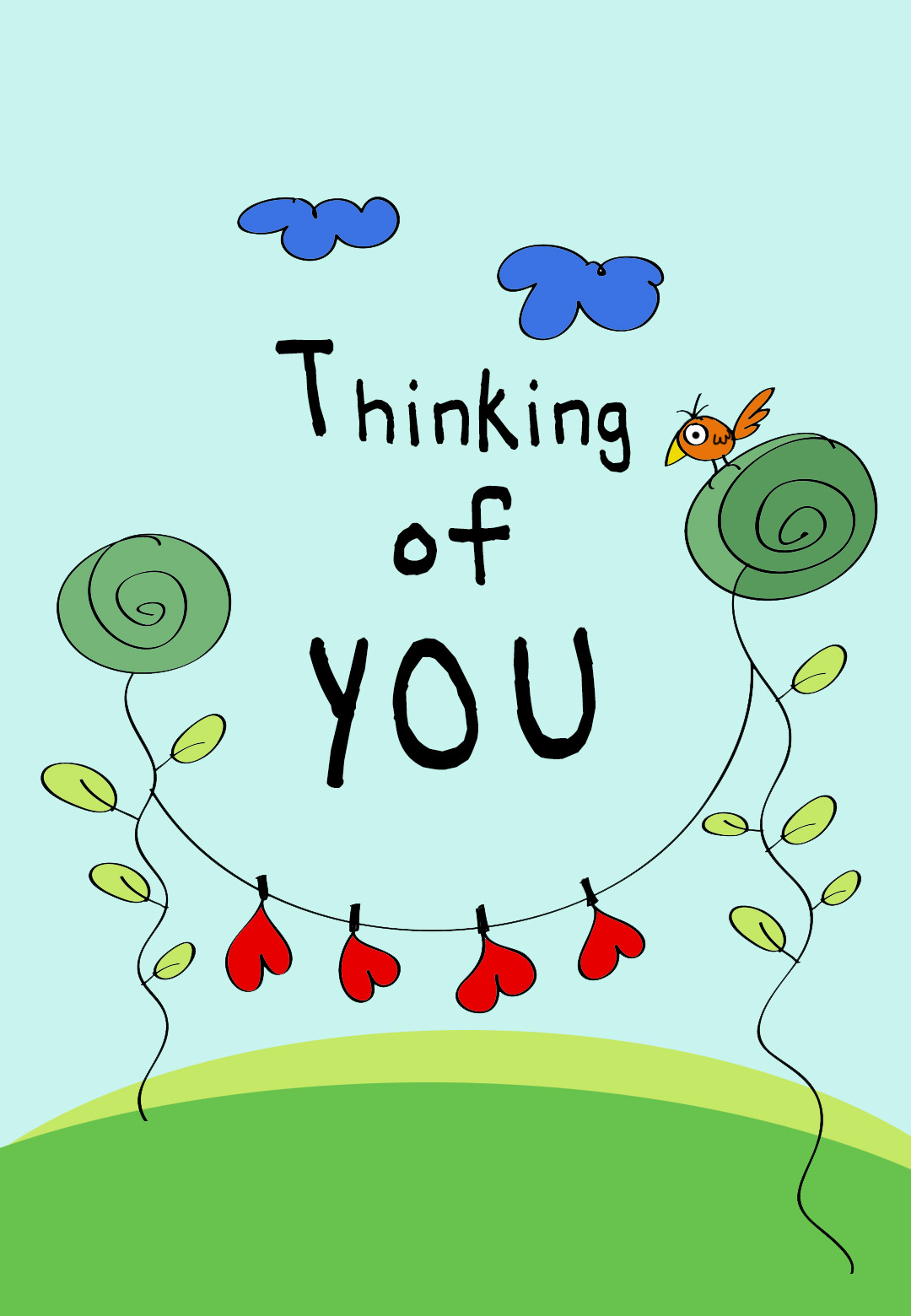 Thinking Of You - Free Love Card   Greetings Island - Free Printable Thinking Of You Cards