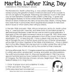 This Free Worksheet About Martin Luther King Day Covers The Basic   Free Printable Martin Luther King Jr Worksheets