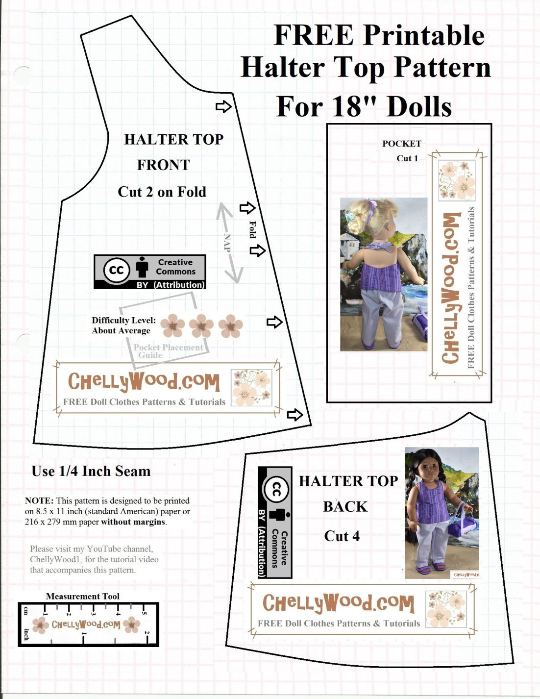 This Image Is A Free Printable Pattern For American Girl Doll - American Girl Doll Clothes Patterns Free Printable