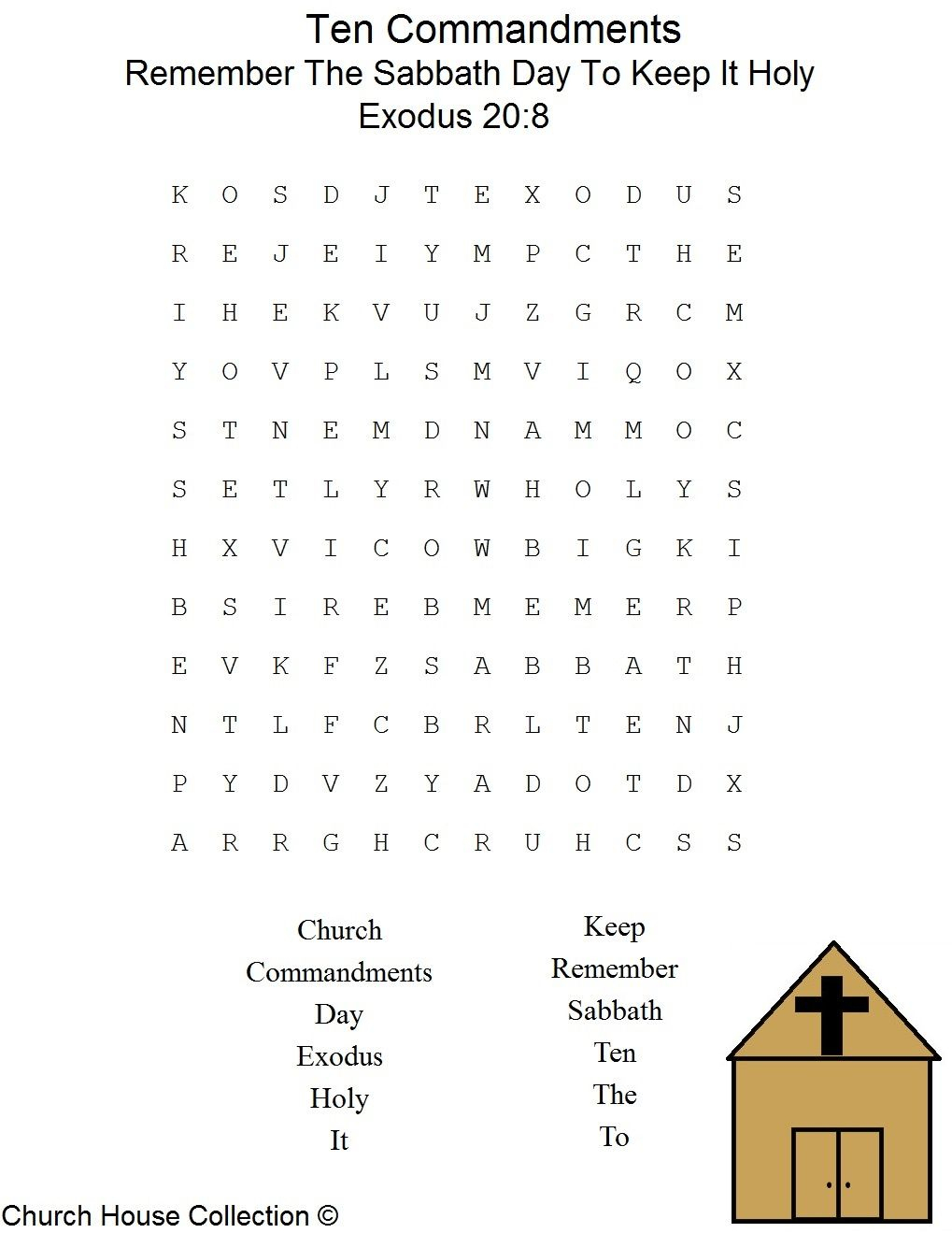 This Is A Free Printable Ten Commandments Word Find Puzzle For The - Free Printable Catholic Word Search