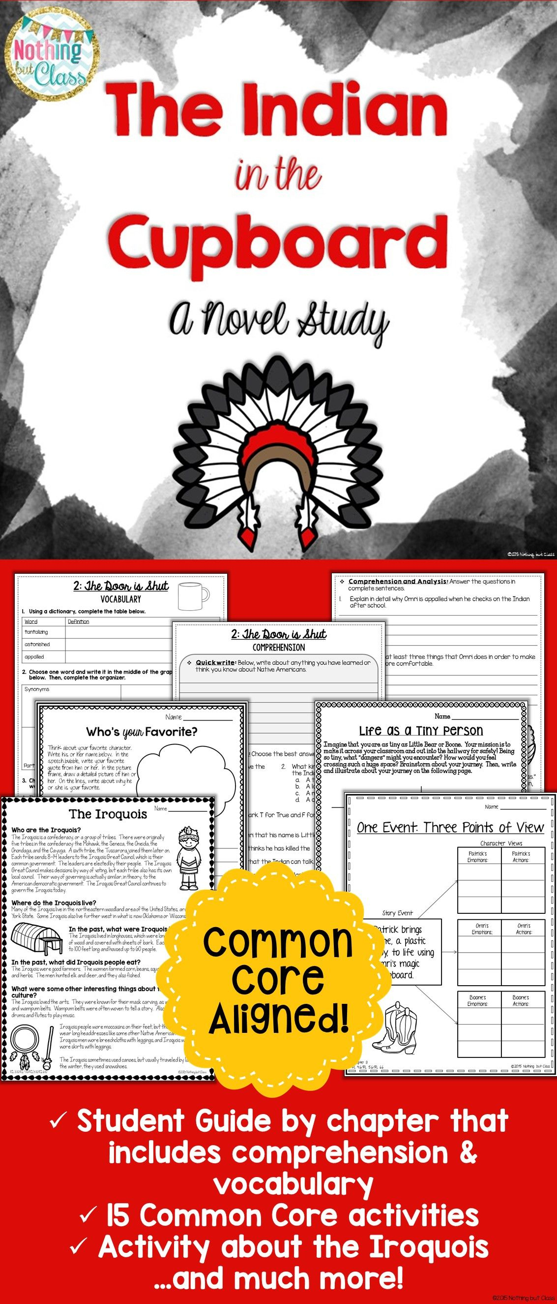 This Novel Study For The Indian In The Cupboardlynne Reid Banks - Indian In The Cupboard Free Printable Worksheets