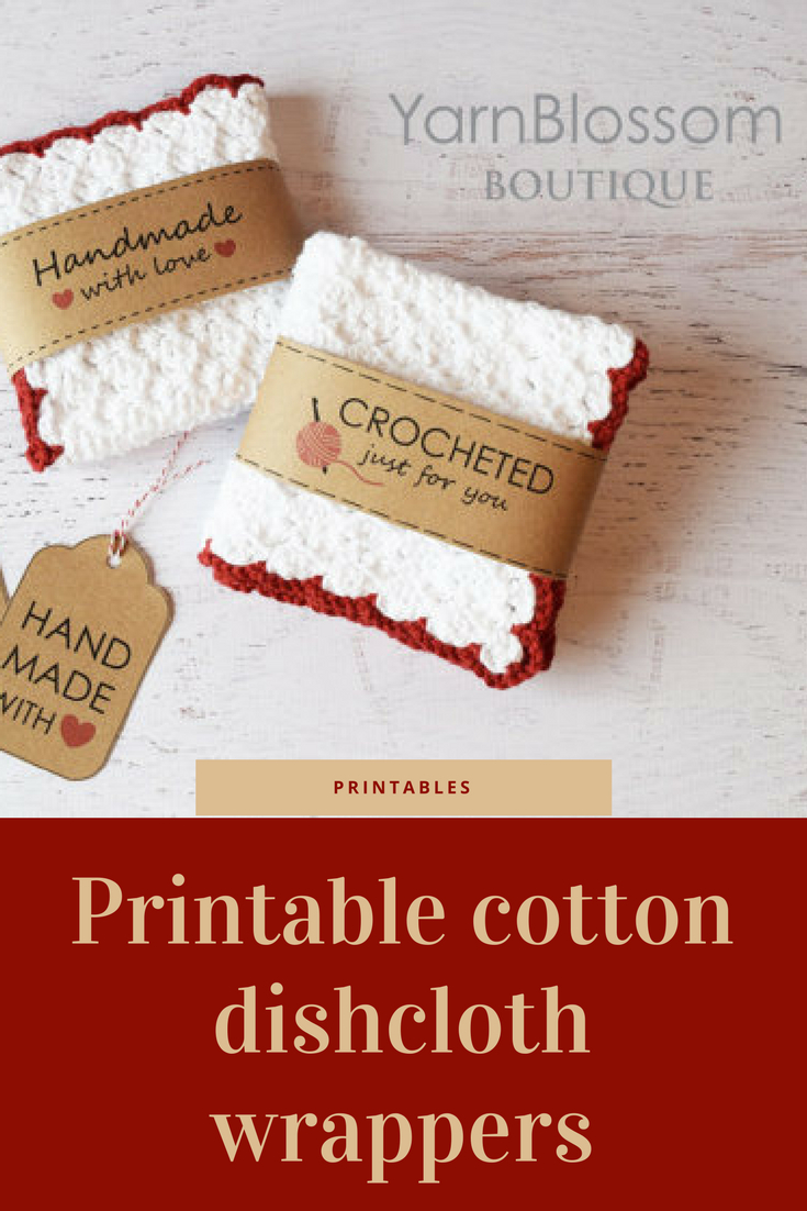 This Pattern Includes Instructions For Making The Dishcloths - Free Printable Dishcloth Wrappers