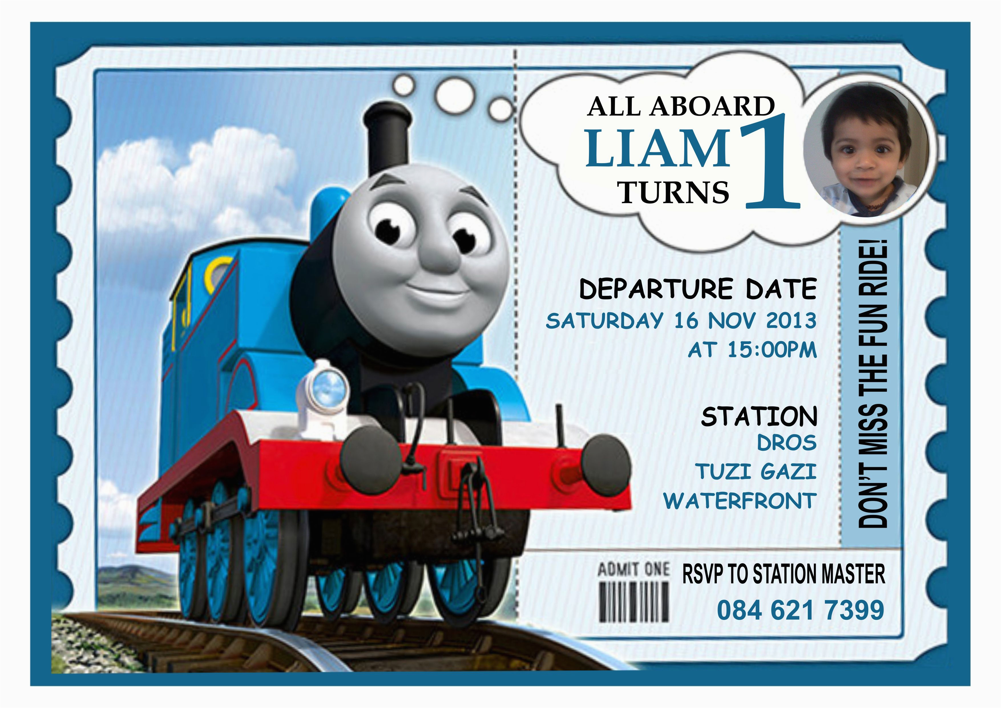 Thomas The Train Birthday Invites | Birthdaybuzz - Thomas Invitations Printable Free