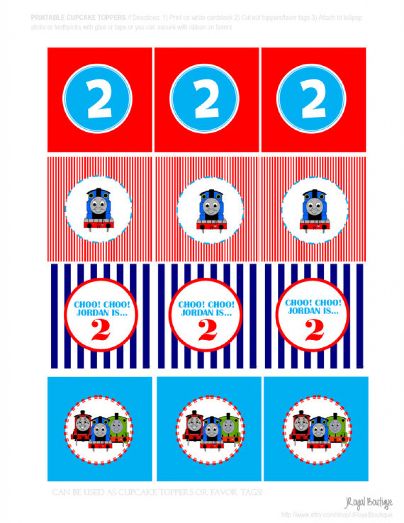 image regarding Free Printable Thomas the Train Cup Cake Toppers known as Thomas The Educate Printable - Do-it-yourself Personalized Cupcake Toppers