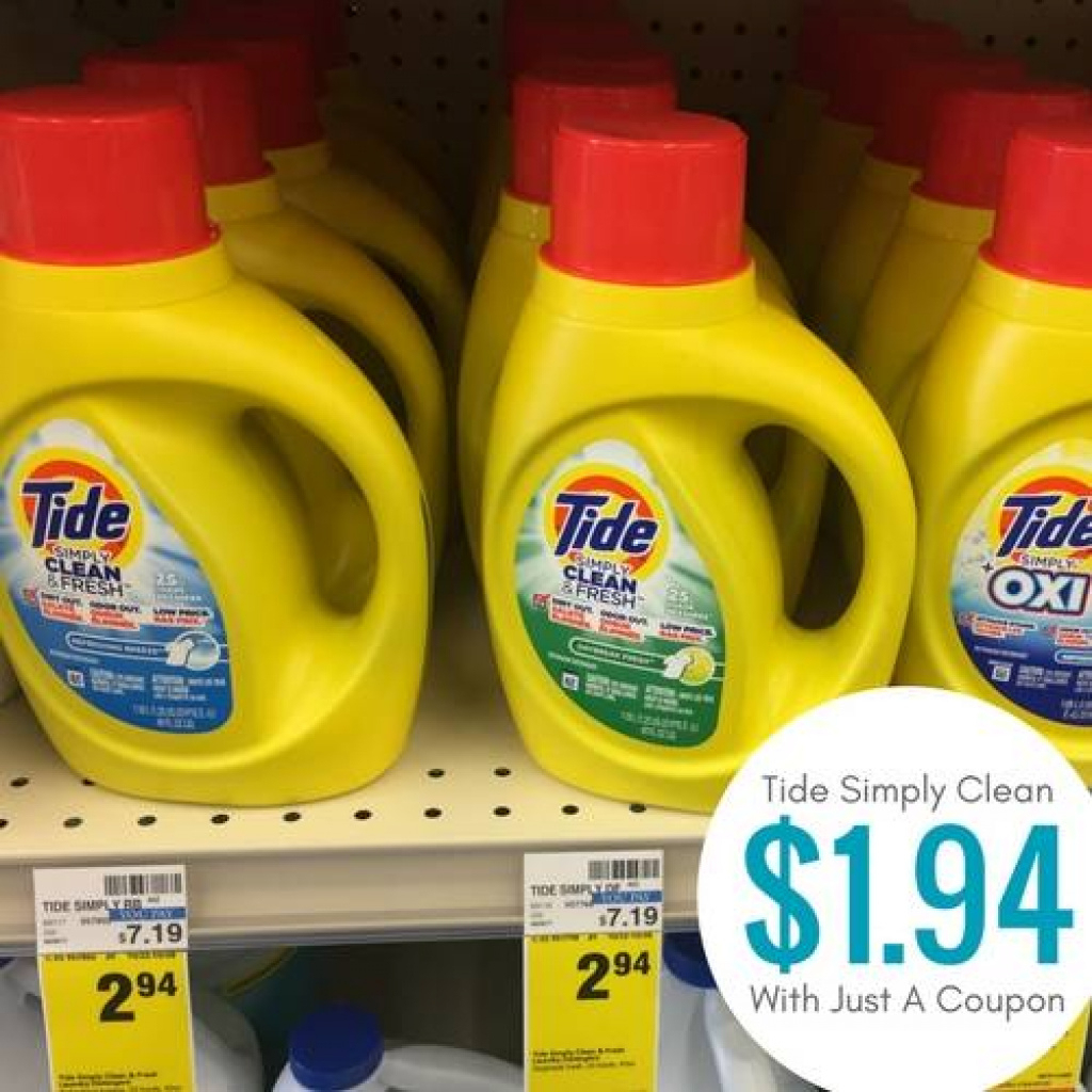 Tide Simply Clean Coupons | Best Laundry Detergent Sales Regarding - Free All Detergent Printable Coupons