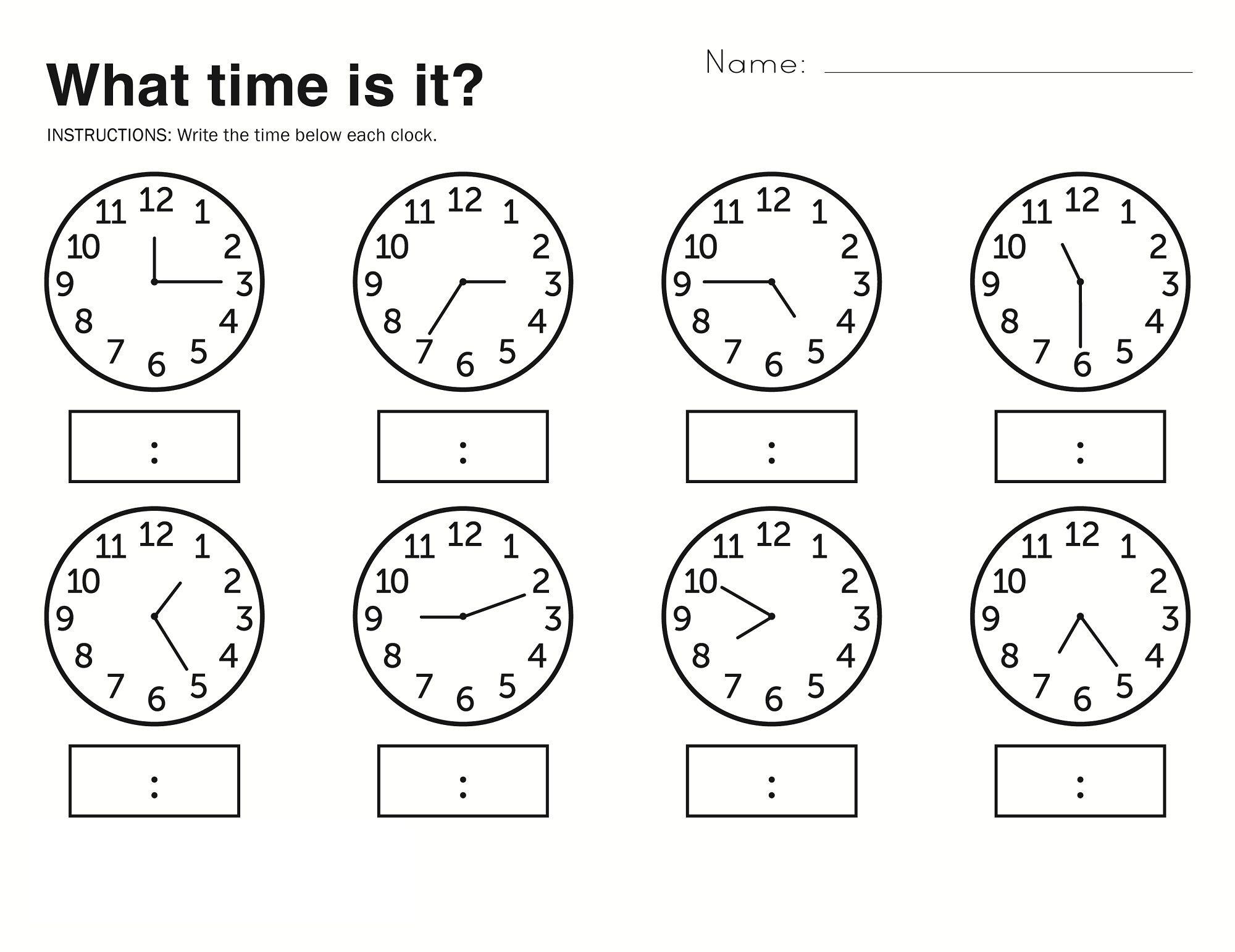 Time Elapsed Worksheets To Print | Math Fun | Free Kindergarten - Elapsed Time Worksheets Free Printable
