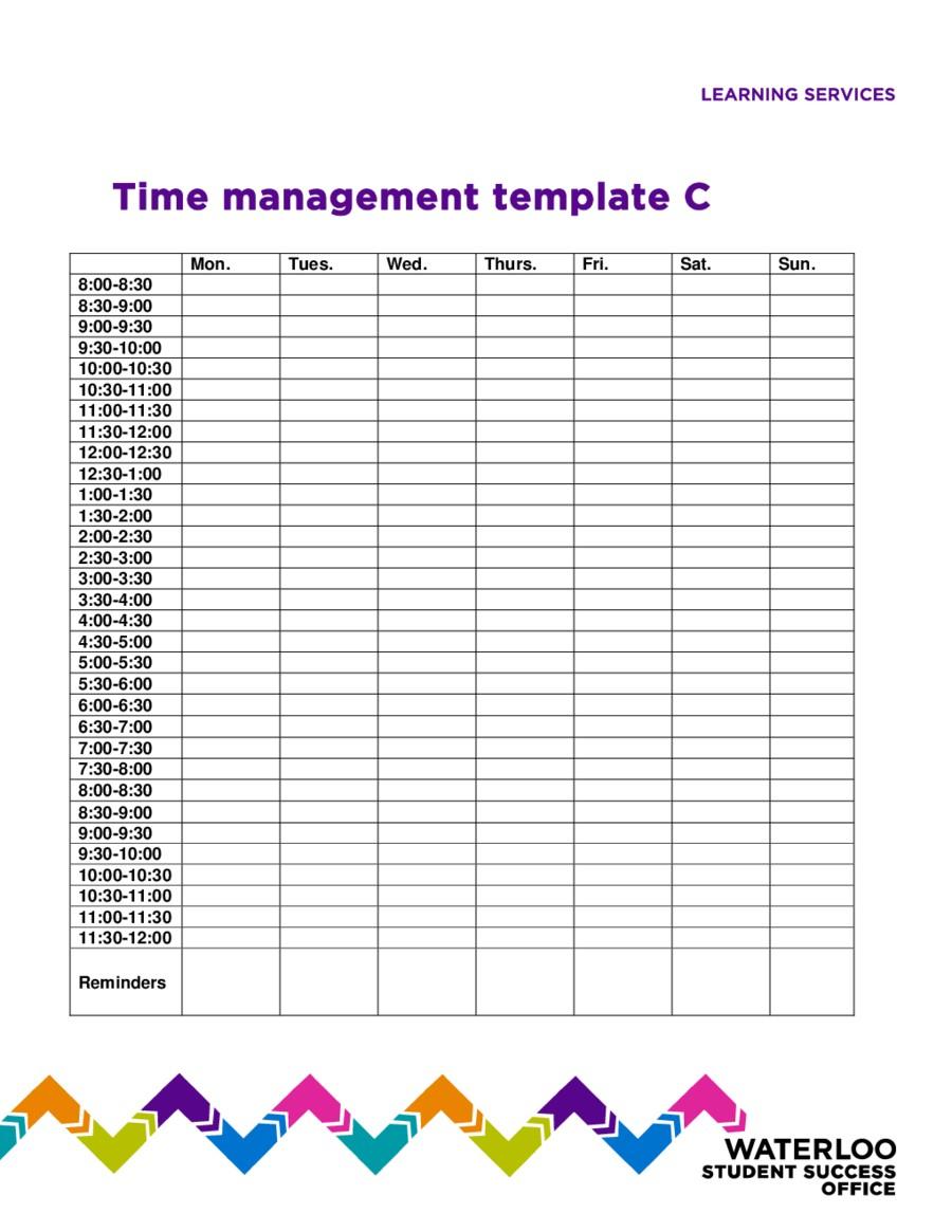 Time Management Calendar Printable 2018 Time Management Fillable - Time Management Forms Free Printable