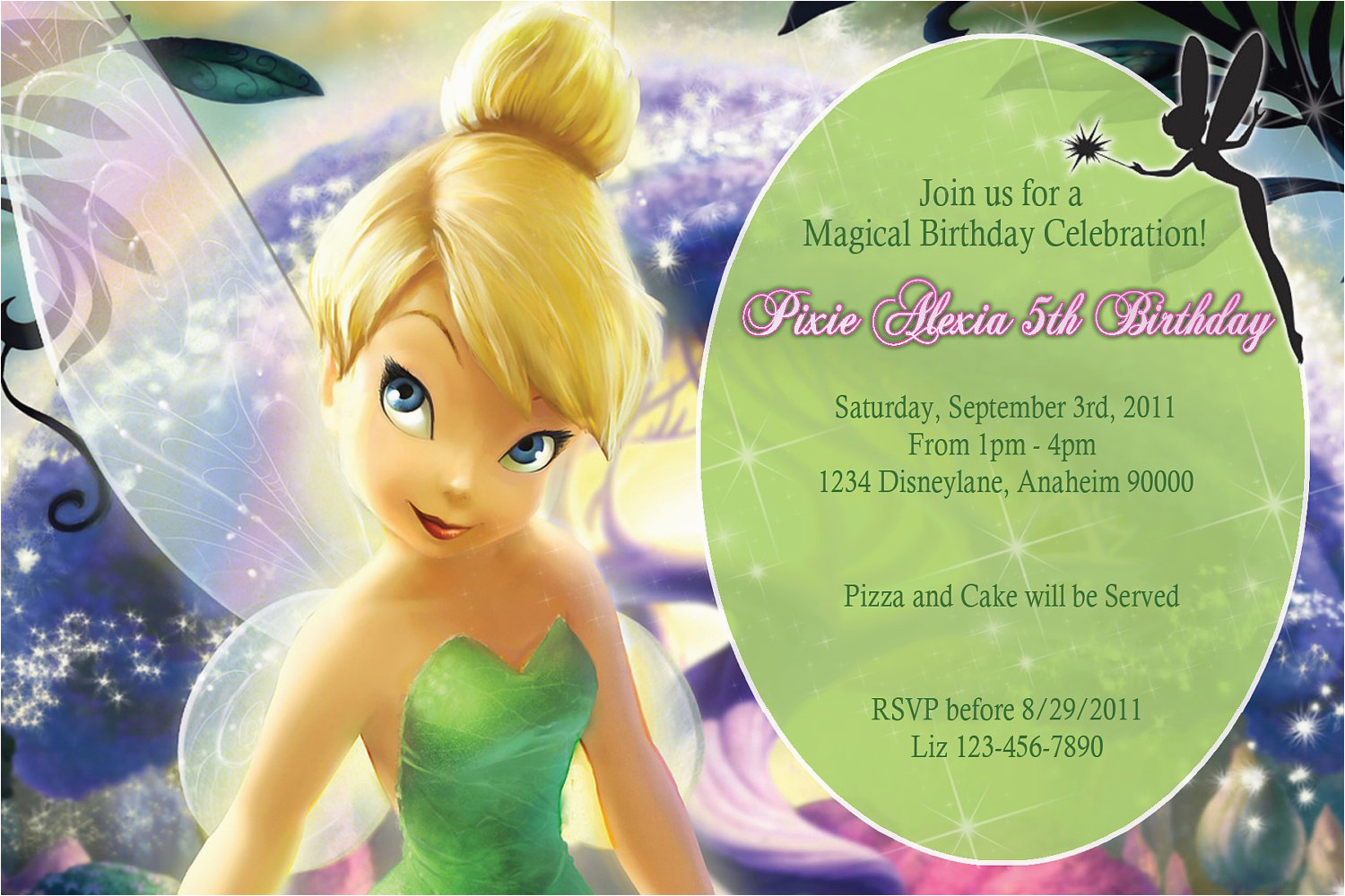 Tinkerbell 1St Birthday Invitations Free Printable Tinkerbell - Free Tinkerbell Printable Birthday Invitations