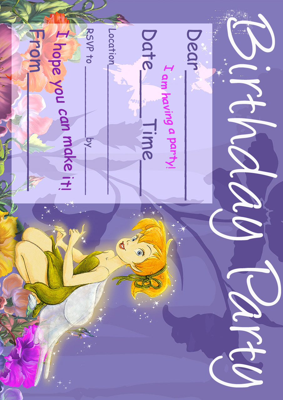 Tinkerbell Birthday Party Invitation Printable - Best Gift Ideas Blog - Free Tinkerbell Printable Birthday Invitations