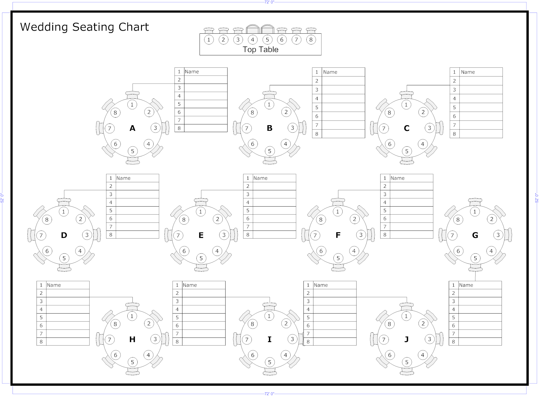 Tips To Seat Your Wedding Guests | Organized | Seating Chart Wedding - Free Printable Wedding Seating Chart Template