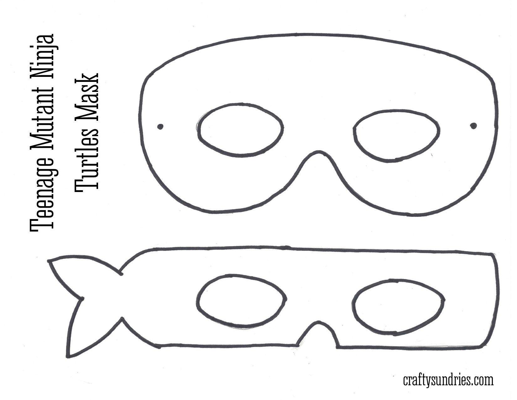 Tmnt Mask … | Work - Teenage Mutant Ninja Turtle | Pinterest | Ninja - Teenage Mutant Ninja Turtles Free Printable Mask