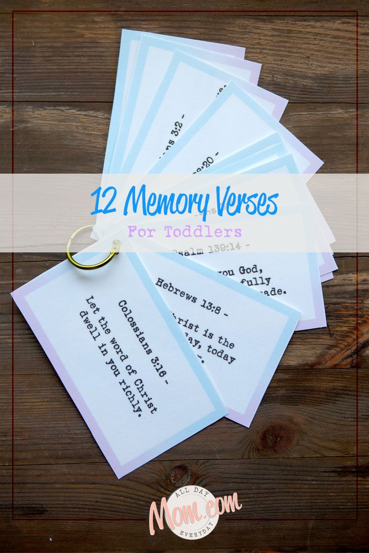 Toddler Bible Memory Verses. Free Printables Included To Take Along - Free Printable Bible Crafts For Preschoolers