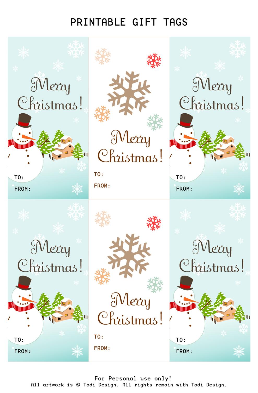 Todi: Spirit Of Christmas - Free Printable Gift Tags For Holiday Gifts - Free Printable Christmas Designs