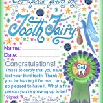 Tooth Fairy Certificate: Award For Losing Your Third Tooth | Rooftop   Free Printable Tooth Fairy Certificate